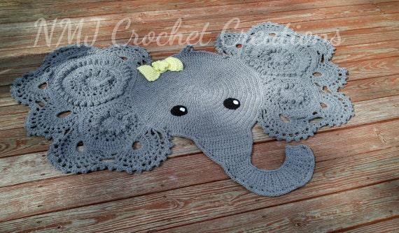 Crochet Elephant Rug : Crochet Elephant Rug by NMJCrochetCreations on Etsy