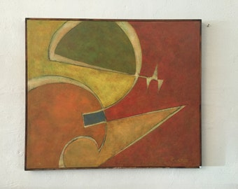 Cletus Behlmann Abstract Modern Art Painting