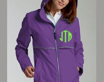Monogrammed Rain Jacket / Customized / Personalized / Monogrammed Rain Coat