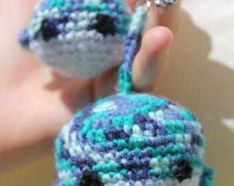 whale toy; crotchet amigurumi whale; plush toy; whale keyring