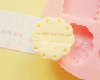 21mm Sweet Cookie Candy Gummy Flexible SIlicone Mold - Decoden Kawaii Sweets Resin Fimo Polymer Clay Sculpey Wax Soap Stampi Charm Cabochon