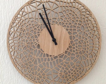 29cm cell clock in oak