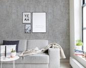 Cement Concrete Peel & Stick Fabric Wallpaper Repositionable