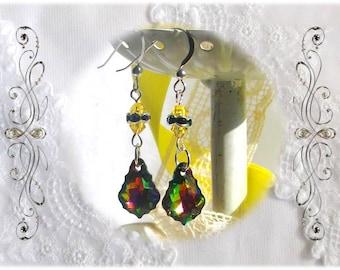 Brilliant Swarovski Teardrop Earrings, Sterling Silver Earwires