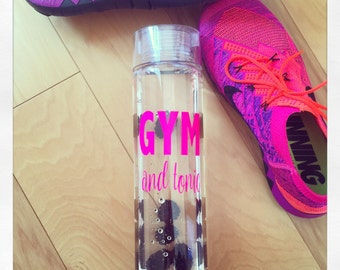 Gym & Tonic 32oz clear water bottle