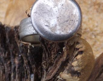 Turkmen Silver , Turkmen Silver Ring....Size 9 only