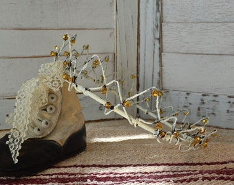 Pre Christmas Sale! - Wire Work Crown Fil De Fer Jean d' Arc Living Style inspired, Wedding Center piece