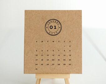 Desk Easel Calendar–Stamp
