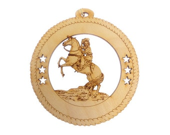 Horse Ornament, Western Rider - Horse Gift - Western Rider Horse Ornaments - Horse Art - Horse Decor - Equestrian Decor - Personalized Free