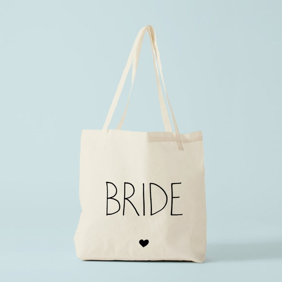 Tote Bag Bride Heart, wedding tote bag, bride's tote bag, bride gift, bachelorette.