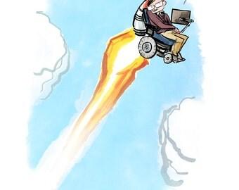 Stephen Hawking Print