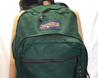 Free Ship, Jansport Backpack, Green, Large Backpack