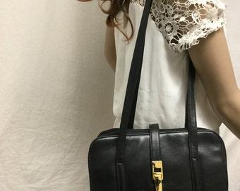 Organizer bag,black,faux leather,Shoulder Bag, Black ,Purse