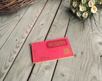 Versailles Postcard Books - 12 Postcards of Versailles Palace - Complete Antique Souvenirs Book - Souvenirs from France