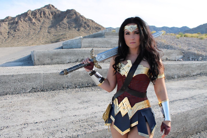Wonder woman costume leggings-4113