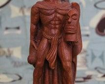 Coco Joes Carved Wood Hawaiian Souvenir King Kamehameha