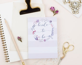 Bride To Be Notebook / Pocket Journal / A6 / Blank Pages / Wedding Diary / Bridal Stationary / Organisation / Planner / Engagement Gift