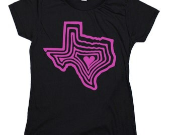 Austin Texas Heart : Soft Ringspun Cotton Women's Cut T-Shirt