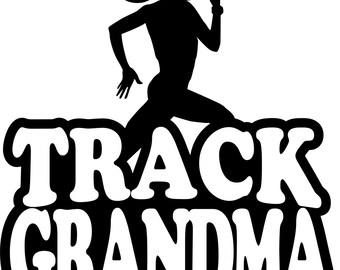 Track Grandma Hoodie/ Track Grandma Sweatshirt/ Track Grandma Clothing/ Track Grandma Gift/ Girl Runner Track Grandma Hoodie Sweatshirt