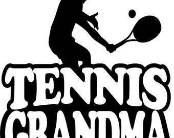 Tennis Grandma Hoodie/ Tennis Grandma Sweatshirt/ Tennis Grandma Clothing/ Tennis Grandma Gift/ Girl Player Tennis Grandma Hoodie Sweatshirt