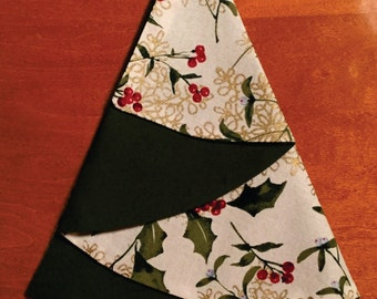 Christmas tree shaped napkins