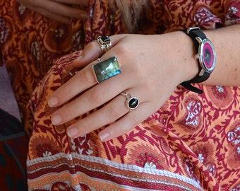 Borealis  - Labradorite and silver ring/ Protective ring / Aura