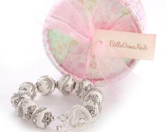 BellaGemaNails White Chunky Bracelet