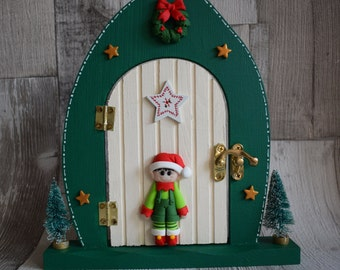Elf on the shelf etsy for Elf door decoration