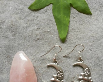 Rabbit earrings - Bunny earrings - Hare earrings - Fertility jewellery