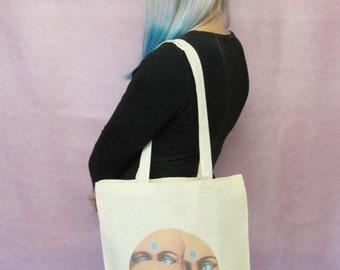 Third Eye Tote Bag Creepy Doll Bag American Horror Story Gift Creepy Cute Bag Macabre Goth Bag