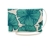 """Oversize CrossBody Clutch - One of a Kind """"Sea Flower"""" Print - Made in Hawaii by Jana Lam"""