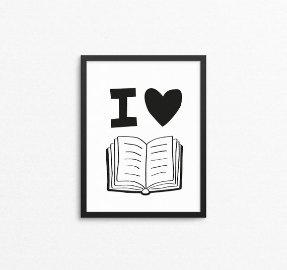 Quotes About Love: Kids Wall Art I Love Books Reading Quote Print Printable