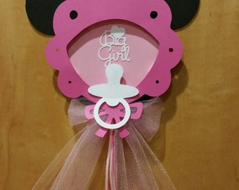 Baby Minnie Mouse Cake Topper  (Minnie Mouse baby shower decoration)
