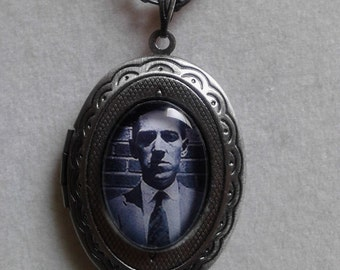 HP Lovecraft inspired locket necklace
