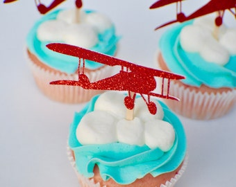 Airplane Cupcake Toppers *ON SALE*