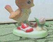 Spencer Sparrow, Cute Little Bird Wearing a Hat Vintage Figurine - 1970s
