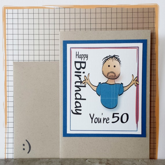 50th Birthday Card Brother Birthday Card Husband Birthday – 50th Birthday Card for Husband