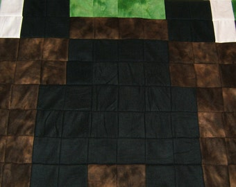 SALE:  Minecraft Earth Creeper (Reversible fleece)