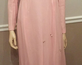 Pink 60's prom dress / small