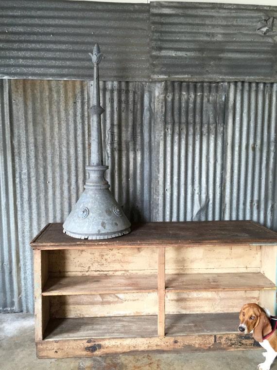 Antique finial vintage home decor garden zinc for Decoration zinc