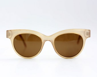 NOS Solstar Wayfarer sunglasses / Vintage Womens shades / Deadstock Lucite sunnies / Translucent glasses / Made in Austria 80s