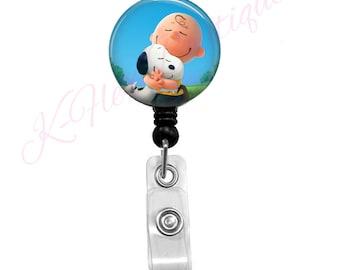Snoopy Hug Badge Reel
