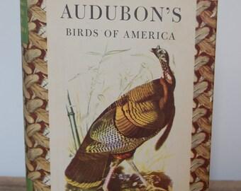 Vintage Book, Audubon's Birds of America, Collectible Book, Decorative Book, Library Decor, Nature Book, Bird Prints, Hardcover Book