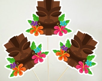 Luau Centerpieces, Luau Party, Luau Birthday, Hawaii Centerpieces, Tiki Party Centerpieces