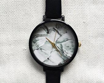 Women Watches, Marble Watch, Minimalist Watch, Wrist Watch, Leather Watch, Marble Jewelry, Modern Jewelry, Unique Watches, Girlfriend Gift,