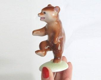 Happy Dancing Bear Figurine