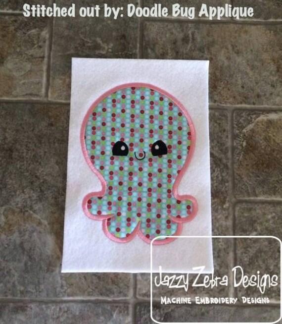 Monster 7 Applique embroidery Design - monster applique design - alien Applique Design - baby Appliqué Design - halloween Applique Design