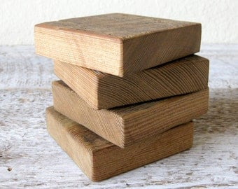Reclaimed Barn Wood Coasters ~ Set of 4