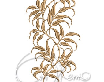 MACHINE EMBROIDERY DESIGN - Floral ornament, historical embroidery, border embroidery, botanic embroidery, rustic embroidery