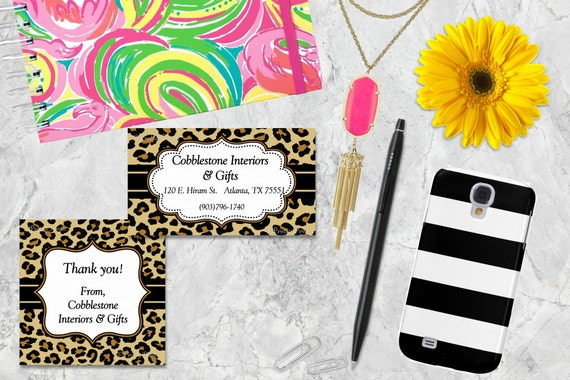 Leopard Gift Tags, Leopard Print, Animal Print, Cheetah, Tags, Business Cards, Calling Cards, Appointment Cards, Personalized Gift Tags
